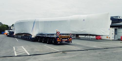 Transport grande longueur - coque bateau